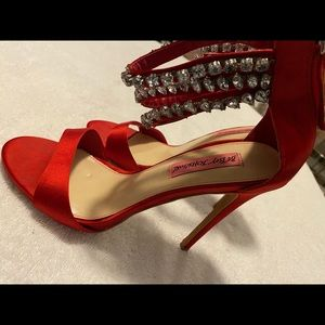 Almost Brand New Red Heels By BETSEY JOHNSON